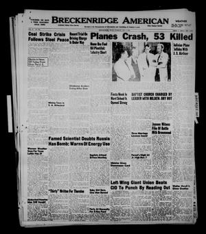 Primary view of object titled 'Breckenridge American (Breckenridge, Tex.), Vol. 29, No. 229, Ed. 1 Tuesday, November 1, 1949'.
