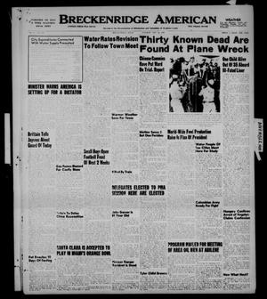 Primary view of object titled 'Breckenridge American (Breckenridge, Tex.), Vol. 29, No. 246, Ed. 1 Tuesday, November 22, 1949'.
