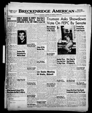 Breckenridge American (Breckenridge, Tex.), Vol. 30, No. 120, Ed. 1 Monday, May 22, 1950