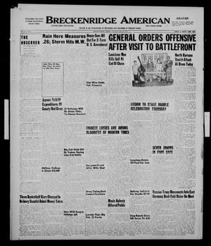 Primary view of object titled 'Breckenridge American (Breckenridge, Tex.), Vol. 31, No. 47, Ed. 1 Tuesday, February 20, 1951'.
