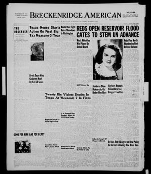 Primary view of object titled 'Breckenridge American (Breckenridge, Tex.), Vol. 31, No. 93, Ed. 1 Monday, April 9, 1951'.