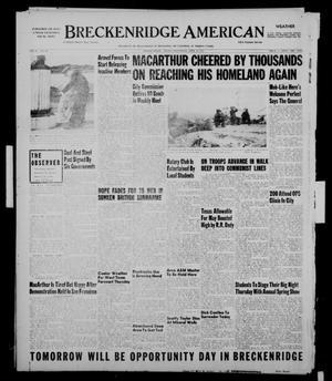 Primary view of Breckenridge American (Breckenridge, Tex.), Vol. 31, No. 101, Ed. 1 Wednesday, April 18, 1951