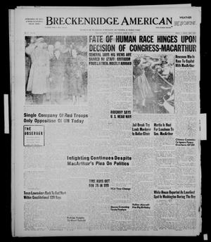 Primary view of object titled 'Breckenridge American (Breckenridge, Tex.), Vol. 31, No. 102, Ed. 1 Thursday, April 19, 1951'.