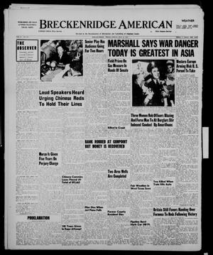 Primary view of object titled 'Breckenridge American (Breckenridge, Tex.), Vol. 31, No. 121, Ed. 1 Friday, May 11, 1951'.