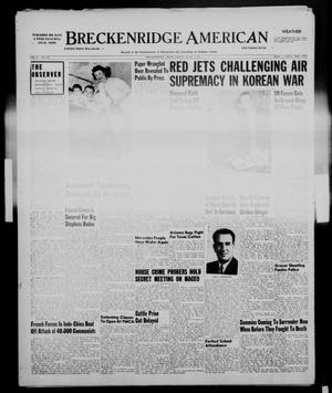 Primary view of object titled 'Breckenridge American (Breckenridge, Tex.), Vol. 31, No. 139, Ed. 1 Friday, June 1, 1951'.