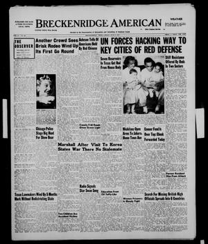 Primary view of object titled 'Breckenridge American (Breckenridge, Tex.), Vol. 31, No. 145, Ed. 1 Friday, June 8, 1951'.
