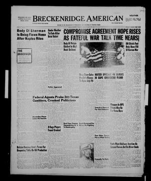 Primary view of object titled 'Breckenridge American (Breckenridge, Tex.), Vol. 31, No. 181, Ed. 1 Tuesday, July 24, 1951'.
