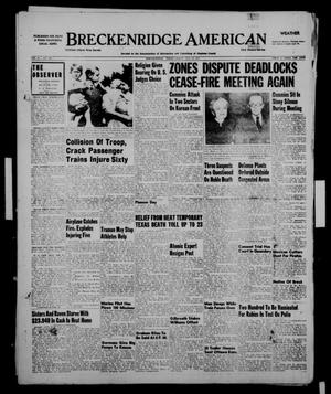 Primary view of object titled 'Breckenridge American (Breckenridge, Tex.), Vol. 31, No. 196, Ed. 1 Friday, August 10, 1951'.
