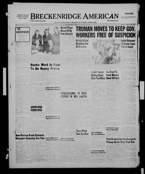 Primary view of object titled 'Breckenridge American (Breckenridge, Tex.), Vol. 31, No. 236, Ed. 1 Thursday, September 27, 1951'.