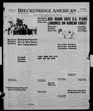 Primary view of object titled 'Breckenridge American (Breckenridge, Tex.), Vol. 31, No. 238, Ed. 1 Sunday, September 30, 1951'.