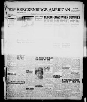 Primary view of object titled 'Breckenridge American (Breckenridge, Tex.), Vol. 32, No. 104, Ed. 1 Thursday, May 1, 1952'.