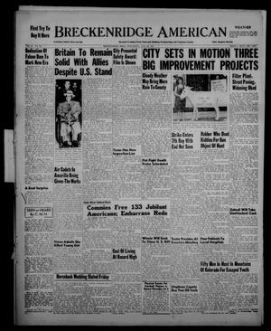 Primary view of Breckenridge American (Breckenridge, Tex.), Vol. 33, No. 190, Ed. 1 Wednesday, August 26, 1953