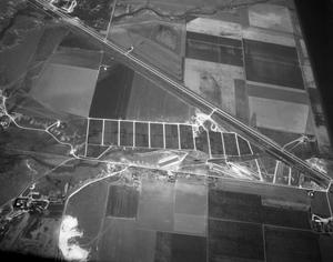 Primary view of object titled '[Aerial Photograph of Feeder Pens]'.