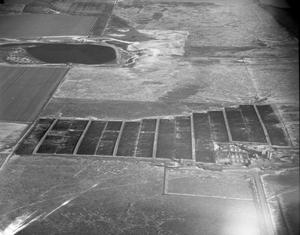 Primary view of object titled '[Aerial Photograph of Deaf Smith County in Winter]'.
