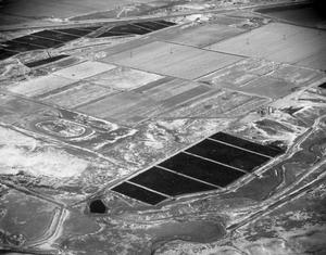 [Aerial Photograph of Feed Yards in Winter]