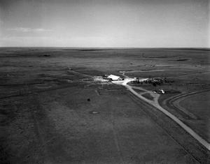 Primary view of object titled '[Aerial Photograph of a Farm in Deaf Smith County]'.