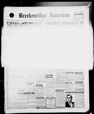 Primary view of object titled 'Breckenridge American (Breckenridge, Tex.), Vol. 41, No. 2, Ed. 1 Thursday, September 1, 1960'.