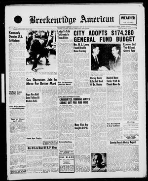 Breckenridge American (Breckenridge, Tex.), Vol. 41, No. 21, Ed. 1 Wednesday, September 28, 1960