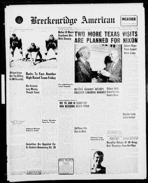 Breckenridge American (Breckenridge, Tex.), Vol. 41, No. 22, Ed. 1 Thursday, September 29, 1960