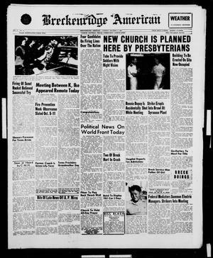Breckenridge American (Breckenridge, Tex.), Vol. 41, No. 25, Ed. 1 Tuesday, October 4, 1960