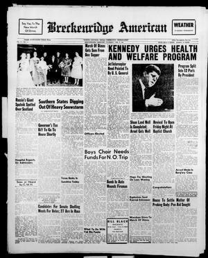 Breckenridge American (Breckenridge, Tex.), Vol. 41, No. 115, Ed. 1 Thursday, February 9, 1961