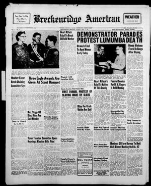 Breckenridge American (Breckenridge, Tex.), Vol. 41, No. 118, Ed. 1 Tuesday, February 14, 1961