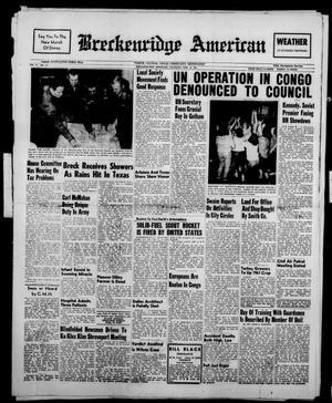 Breckenridge American (Breckenridge, Tex.), Vol. 41, No. 120, Ed. 1 Thursday, February 16, 1961