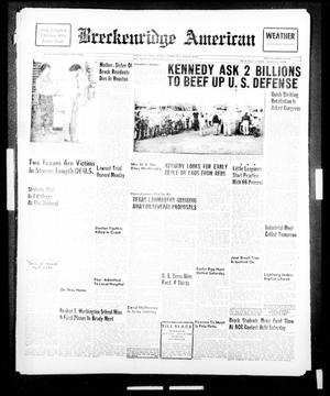 Primary view of object titled 'Breckenridge American (Breckenridge, Tex.), Vol. 41, No. 148, Ed. 1 Tuesday, March 28, 1961'.