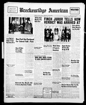 Breckenridge American (Breckenridge, Tex.), Vol. 41, No. 155, Ed. 1 Thursday, April 6, 1961