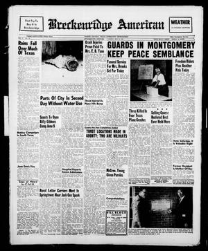 Primary view of object titled 'Breckenridge American (Breckenridge, Tex.), Vol. 41, No. 187, Ed. 1 Tuesday, May 23, 1961'.
