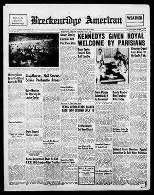 Breckenridge American (Breckenridge, Tex.), Vol. 41, No. 192, Ed. 1 Wednesday, May 31, 1961