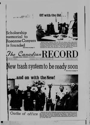 Primary view of object titled 'The Canadian Record (Canadian, Tex.), Vol. 86, No. 1, Ed. 1 Thursday, January 2, 1975'.