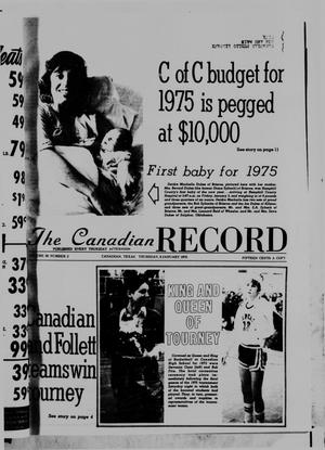 Primary view of object titled 'The Canadian Record (Canadian, Tex.), Vol. 86, No. 2, Ed. 1 Thursday, January 9, 1975'.