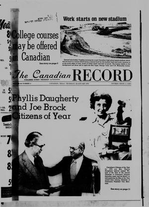 Primary view of object titled 'The Canadian Record (Canadian, Tex.), Vol. 86, No. 4, Ed. 1 Thursday, January 23, 1975'.