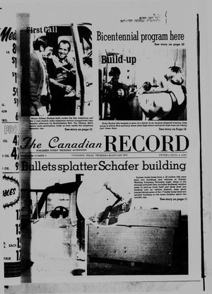 Primary view of object titled 'The Canadian Record (Canadian, Tex.), Vol. 86, No. 5, Ed. 1 Thursday, January 30, 1975'.
