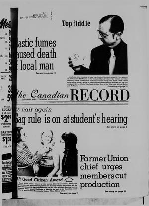 Primary view of object titled 'The Canadian Record (Canadian, Tex.), Vol. 86, No. 7, Ed. 1 Thursday, February 13, 1975'.