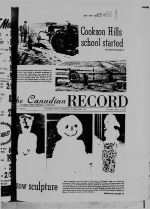 Primary view of object titled 'The Canadian Record (Canadian, Tex.), Vol. 86, No. 8, Ed. 1 Thursday, February 20, 1975'.