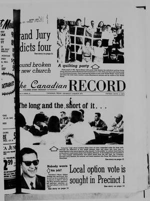 Primary view of object titled 'The Canadian Record (Canadian, Tex.), Vol. 86, No. 10, Ed. 1 Thursday, March 6, 1975'.
