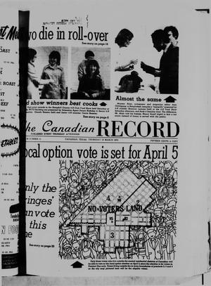 Primary view of object titled 'The Canadian Record (Canadian, Tex.), Vol. 86, No. 11, Ed. 1 Thursday, March 13, 1975'.