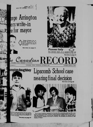 Primary view of object titled 'The Canadian Record (Canadian, Tex.), Vol. 86, No. 12, Ed. 1 Thursday, March 20, 1975'.
