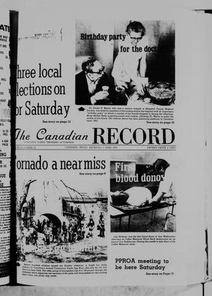 Primary view of object titled 'The Canadian Record (Canadian, Tex.), Vol. 86, No. 14, Ed. 1 Thursday, April 3, 1975'.