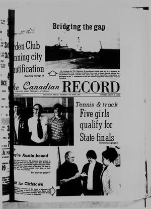 Primary view of object titled 'The Canadian Record (Canadian, Tex.), Vol. 86, No. 17, Ed. 1 Thursday, April 24, 1975'.