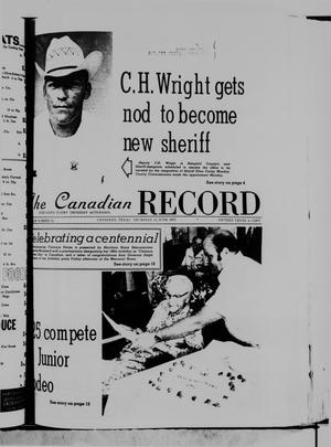 Primary view of object titled 'The Canadian Record (Canadian, Tex.), Vol. 86, No. 24, Ed. 1 Thursday, June 12, 1975'.