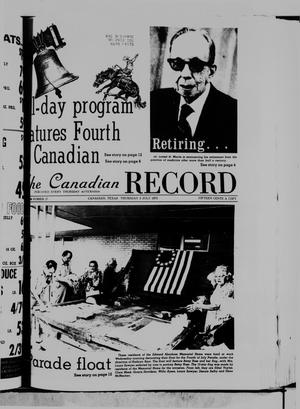 Primary view of object titled 'The Canadian Record (Canadian, Tex.), Vol. 86, No. 27, Ed. 1 Thursday, July 3, 1975'.