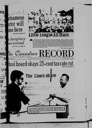 Primary view of object titled 'The Canadian Record (Canadian, Tex.), Vol. 86, No. 29, Ed. 1 Thursday, July 17, 1975'.