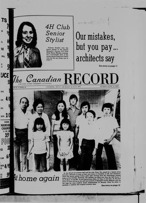 Primary view of object titled 'The Canadian Record (Canadian, Tex.), Vol. 86, No. 30, Ed. 1 Thursday, July 24, 1975'.