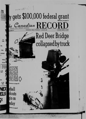 Primary view of object titled 'The Canadian Record (Canadian, Tex.), Vol. 86, No. 32, Ed. 1 Thursday, August 7, 1975'.