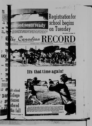 Primary view of object titled 'The Canadian Record (Canadian, Tex.), Vol. 86, No. 33, Ed. 1 Thursday, August 14, 1975'.