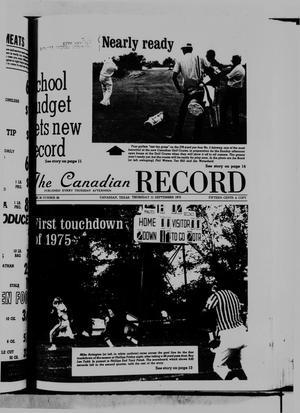 The Canadian Record (Canadian, Tex.), Vol. 86, No. 37, Ed. 1 Thursday, September 11, 1975