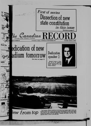 Primary view of object titled 'The Canadian Record (Canadian, Tex.), Vol. 86, No. 39, Ed. 1 Thursday, September 25, 1975'.